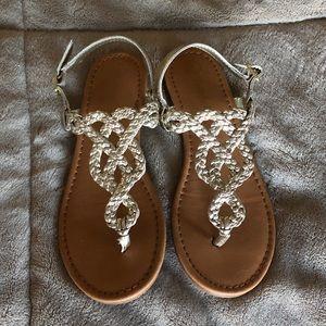 Cat & Jack Girls Pewter color Sandals